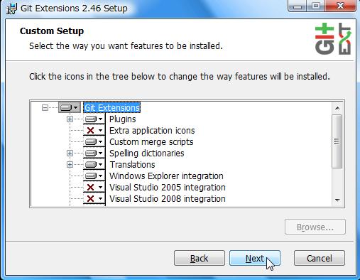 sy windowsでgitを使いたい git extensionsをインストールする